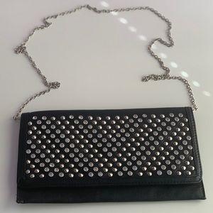 MMS Black Studded Handbag Clutch - One Size